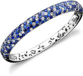Effy Saph Splash by Shades Of Sapphire Bangle Bracelet (10-3/8 ct. t.w.) in Sterling Silver