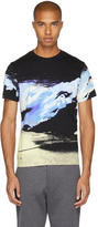 Kenzo Black Abstract Landscape T-Shirt