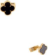 Van Cleef & Arpels 18K Yellow Gold & Onyx Cufflinks