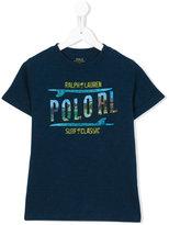 Ralph Lauren chest print t-shirt - kids - Cotton - 8 yrs