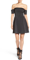 KENDALL + KYLIE Kendall & Kylie Off the Shoulder Fit & Flare Dress