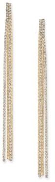 Thalia Sodi Gold-Tone Rhinestone Linear Drop Earrings, Created for Macy's