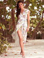 New York & Co. Sweet Pea - Flutter-Sleeve Maxi Dress - Floral