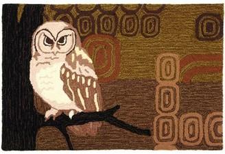 """Loon Peak Marshall Retro Owl Rug Loon Peak Rug Size: Rectangle 1'10"""" x 2'10"""""""
