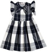 Il Gufo Plaid Printed Cotton Poplin Dress