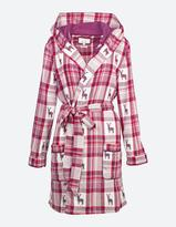 Fat Face Reindeer Jacquard Check Dressing Gown