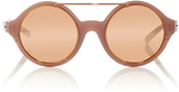 Linda Farrow Dries Van Noten Circular Sunglasses