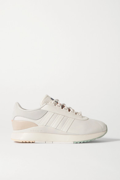adidas Sl Andridge Suede-trimmed Leather And Mesh Sneakers - White