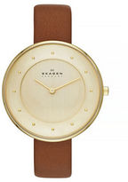 Skagen Gitte Womens Two Hand Leather Watch