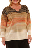 Alfred Dunner Jungle Habitat Ombre Pullover Sweater-Plus