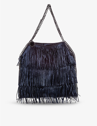 Pre-loved Stella McCartney fringed faux-leather tote bag