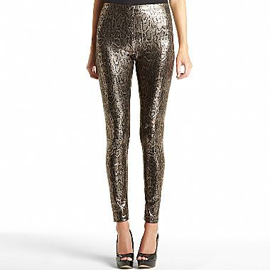 Mng by Mango® Metallic Snake Print Jeggings
