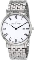 Pierre Petit Men's P-787G Serie Nizza Classic White Dial Stainless-Steel Date Watch