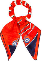 Courreges Printed Square Scarf