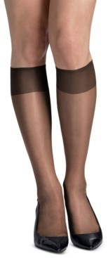Hanes Women's 6-Pk. Slik Reflections Sheer-Toe Knee Highs