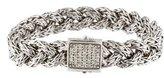 John Hardy Pavé Diamond Classic Chain Braided Bracelet