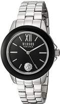 Versus By Versace Women's 'Abbey Road' Quartz Stainless Steel Casual Watch, Color:Silver-Toned (Model: SCC010016)