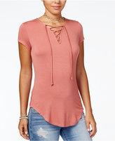 Ultra Flirt Juniors' Lace-Up Tunic