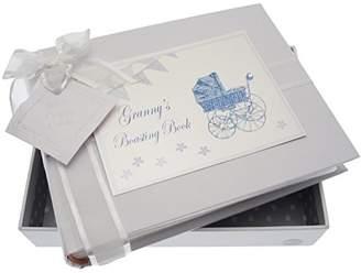 White Cotton Cards Granny's Boasting Book Small Album (Blue Pram and Bunting)
