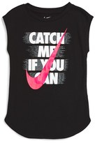 Nike Girl's 'Catch Me If You Can' Graphic Tank