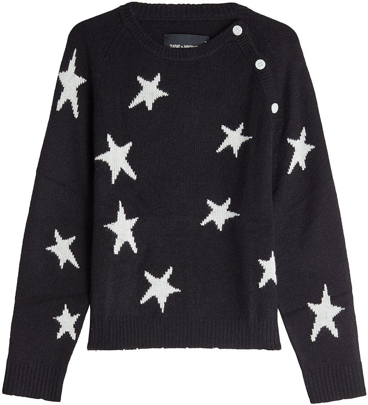 Zadig & Voltaire Printed Cashmere Pullover