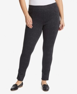 Gloria Vanderbilt Women's Plus Size Avery Pull on Slim Long Pant