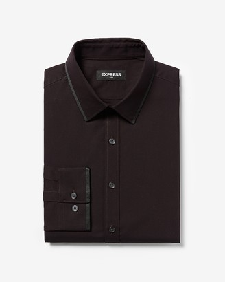Express Slim Taped Cotton Dress Shirt