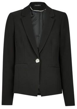 Dorothy Perkins Womens Black Single Breasted Jacket, Black
