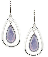Anne Klein Purple Stone Teardrop Earrings