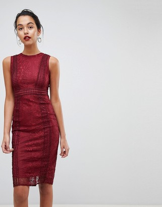 AX Paris Premium Lace Midi Dress