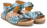 Pépé polka-dot sandals - kids - Leather/Patent Leather/rubber - 20