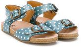 Pépé polka-dot sandals - kids - Leather/Patent Leather/rubber - 20