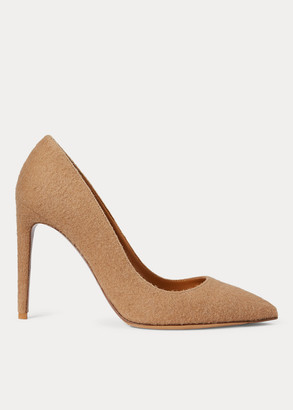 Ralph Lauren Celia Camel-Hair Pump