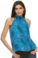 JLO by Jennifer Lopez Women's Pleated Halter Tank