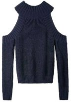 Simplee Apparel Women's Turtleneck Off Shoulder Pure Knitted Pullover Sweater