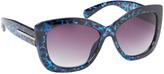 Steve Madden Blue & Black Tortoise Cat-Eye Sunglasses