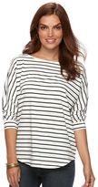 Chaps Women's Striped Boatneck Tee