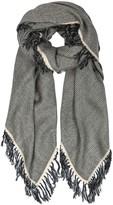 Isabel Marant Swann Grey Wool Blend Scarf