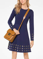 Michael Kors Grommeted Ponte Dress