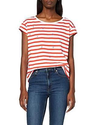 Esprit edc by Women's 057CC1K022 Crew Neck Short Sleeve T - Shirt - Multicolour - 8