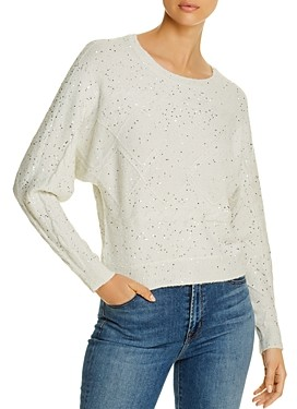 Design History Sequined Dolman-Sleeve Sweater
