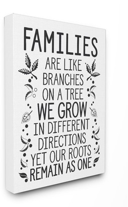 Stupell Home Decor Families Branches Canvas Wall Art