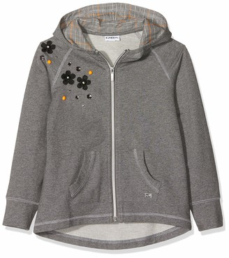 MEK Baby Girls Full Zipper Felpa Stretch CON APPLICAZIONI Sweatshirt
