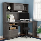 Hillsdale L- Shape Desk with Hutch Red Barrel Studio Color: Gray