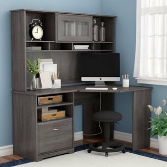 Red Barrel Studioâ® Hillsdale L- Shape Desk with Hutch Red Barrel StudioA Color: Gray