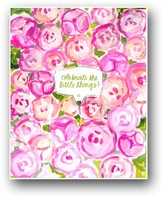 """The Well Appointed House """"Celebrate the Little Things"""" Pink Peonies Art Print"""