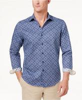 Tasso Elba Men's Linen Ginito Tile-Print Shirt, Only at Macy's