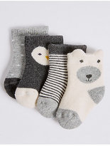 Marks and Spencer 4 Pack of Cotton Rich Socks (0-24 Months)