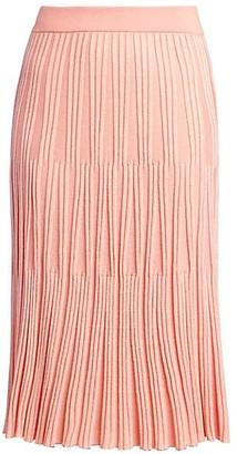 Kenzo Lurex Ribbed Knit Midi Skirt