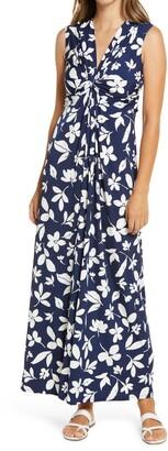 Eliza J Sleeveless Maxi Dress w/ Twist Front